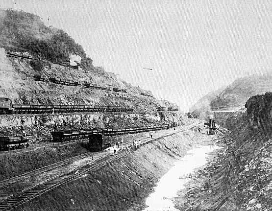 Image result for panama canal being built